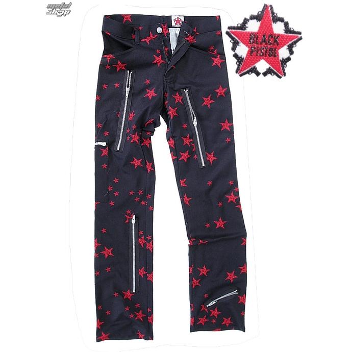 kalhoty pánské Black Pistol - Two Leg Pants Stars - Black/Red