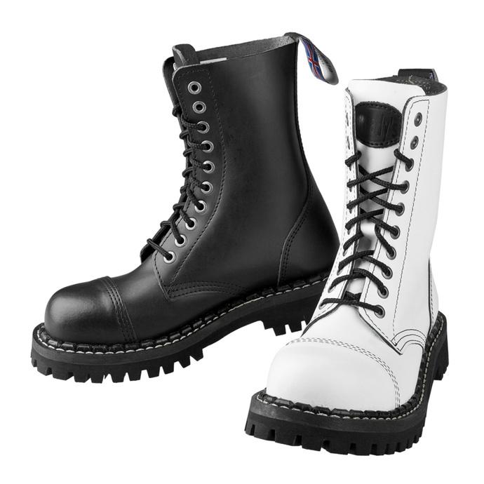 boty STEADY´S - 10 dírkové - Black white