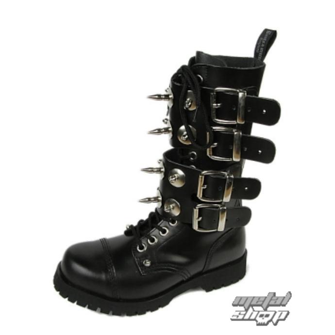 boty BOOTS & BRACES - Scare 4-buckles - ČERNÉ