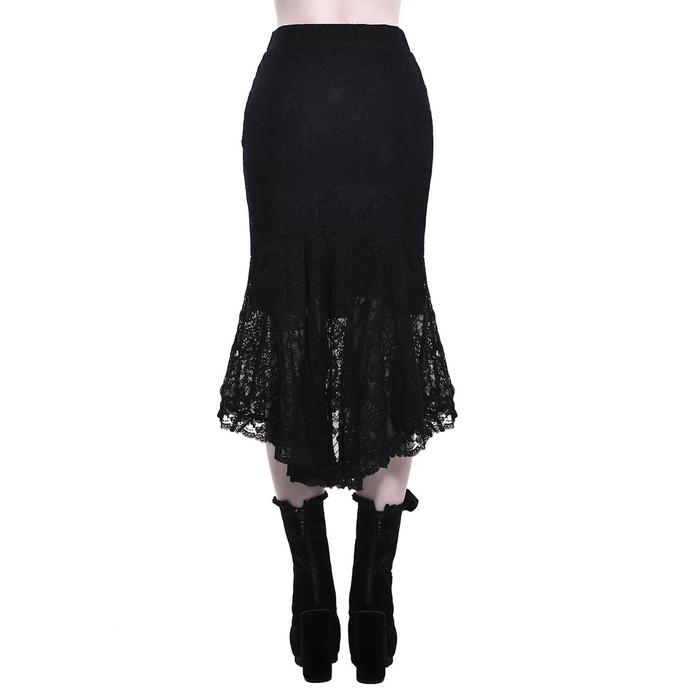 sukně dámská KILLSTAR - Elora Fishtail - BLACK