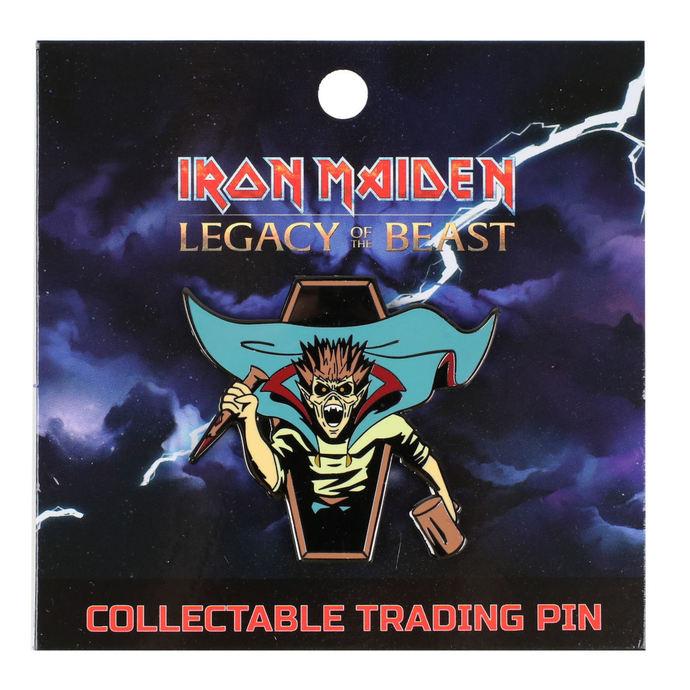 připínáček Iron Maiden - Legacy of the Beast - Vampire Hunter Eddie