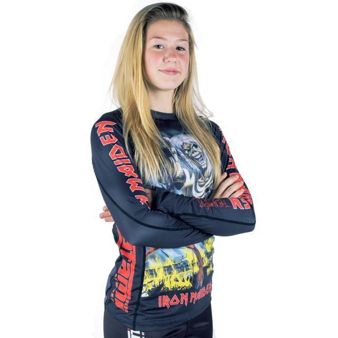 tričko dámské s dlouhým rukávem (technické) TATAMI - Iron Maiden - Number of the Beast - Rash Guard