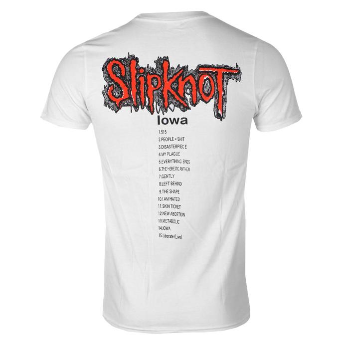 tričko pánské Slipknot - Iowa Tracklist - WHT - ROCK OFF