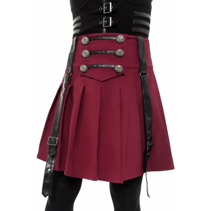 sukně dámská KILLSTAR - Dark Academy - BLOOD
