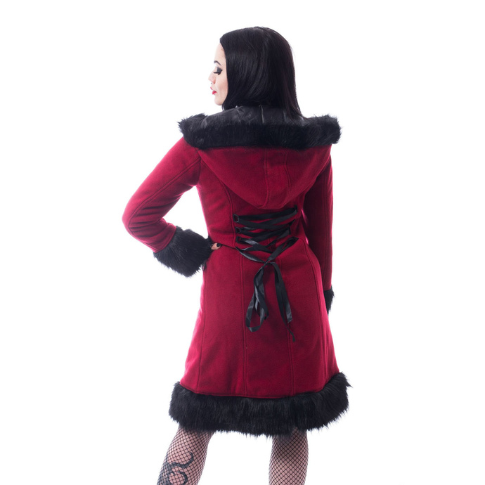 kabát dámský POIZEN INDUSTRIES - DARK MASE - RED