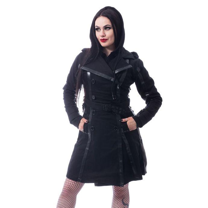 kabát dámský CHEMICAL BLACK - DARK SILENCE - BLACK