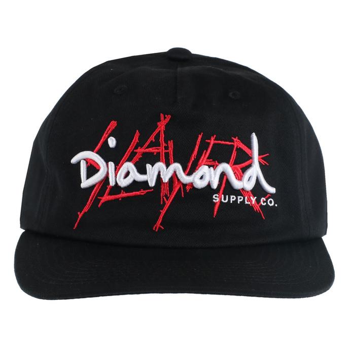 kšiltovka SLAYER - DIAMOND - Unstructured - Black