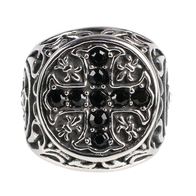 prsten ETNOX - Crystal Cross