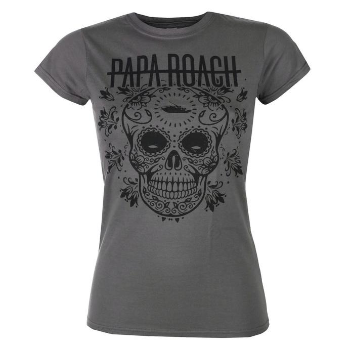 tričko dámské Papa Roach - Dia De La Roach - Charcoal - KINGS ROAD
