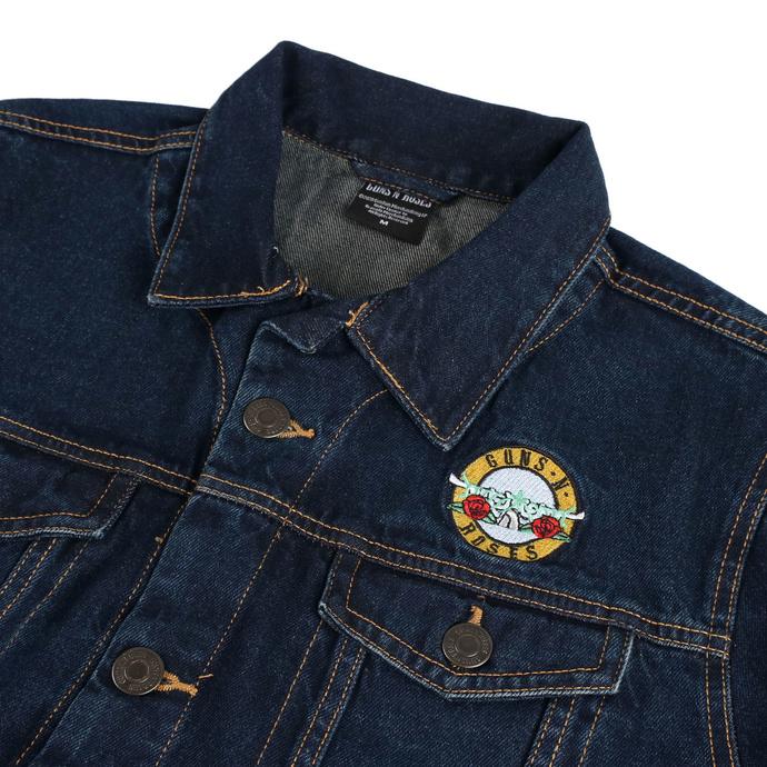 bunda pánská Guns N' Roses - Classic Logo - DENIM - ROCK OFF