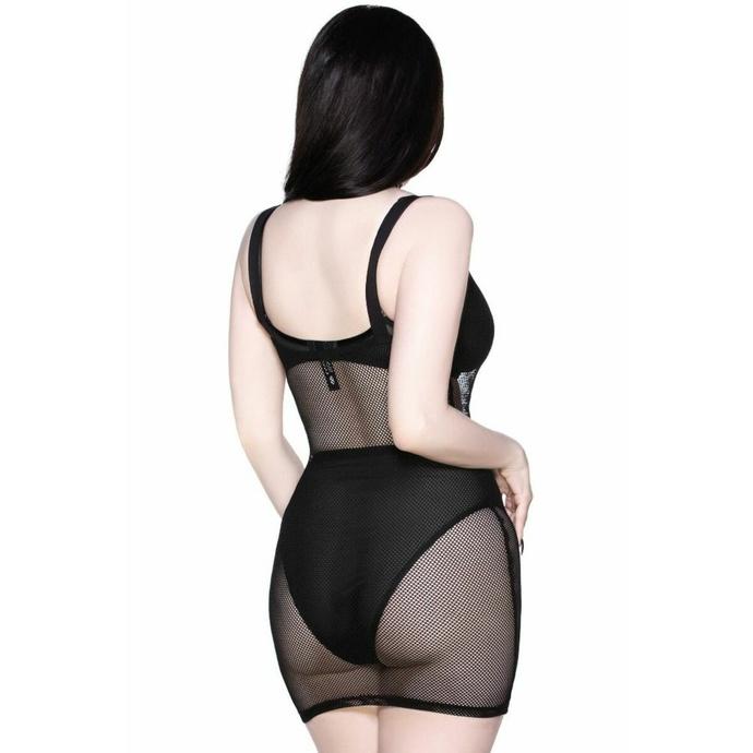 šaty dámské KILLSTAR - Feral AF Fishnet - BLACK