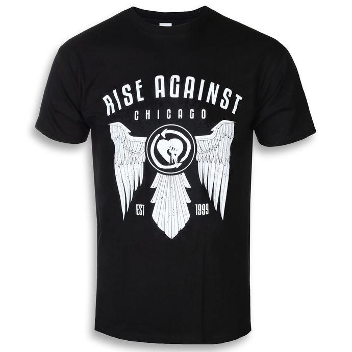 tričko pánské Rise Against - Wings - Black - KINGS ROAD