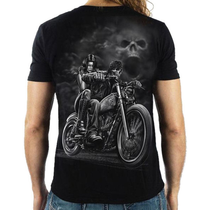 tričko pánské LETHAL THREAT - HIGHWAY TO HELL - BLACK