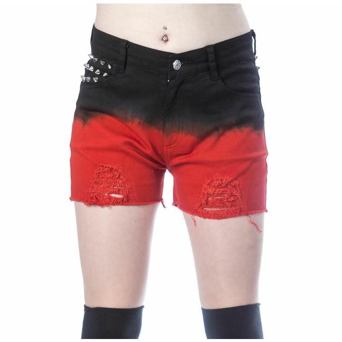 kraťasy dámské VIXXSIN - GAIA - BLACK/RED