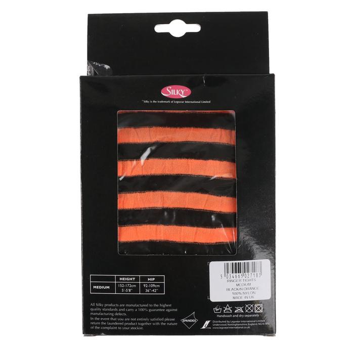 punčocháče LEGWEAR - scarlet ringer - black neon orange strip