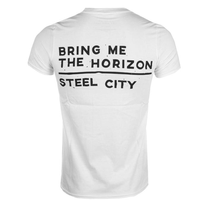 tričko pánské Bring Me The Horizon - Distorted - Wht - ROCK OFF