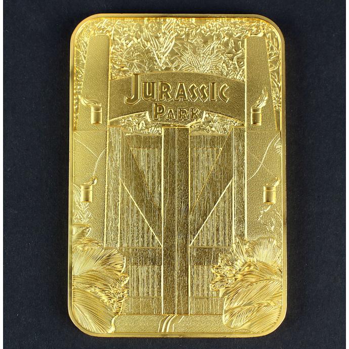 dekorace Jurský park - Card Metal Entrance Gates - gold plated