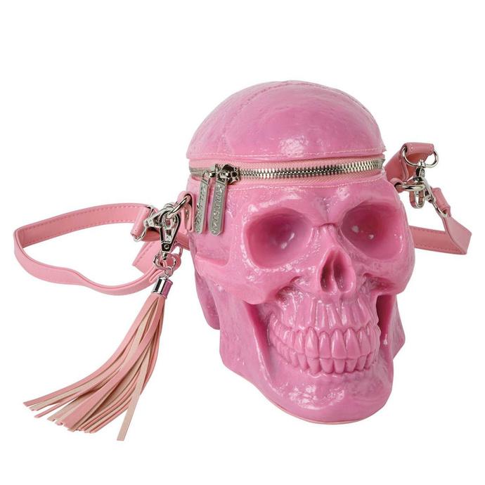 kabelka (taška) KILLSTAR - Grave Digger Skull - BUBBLEGUM