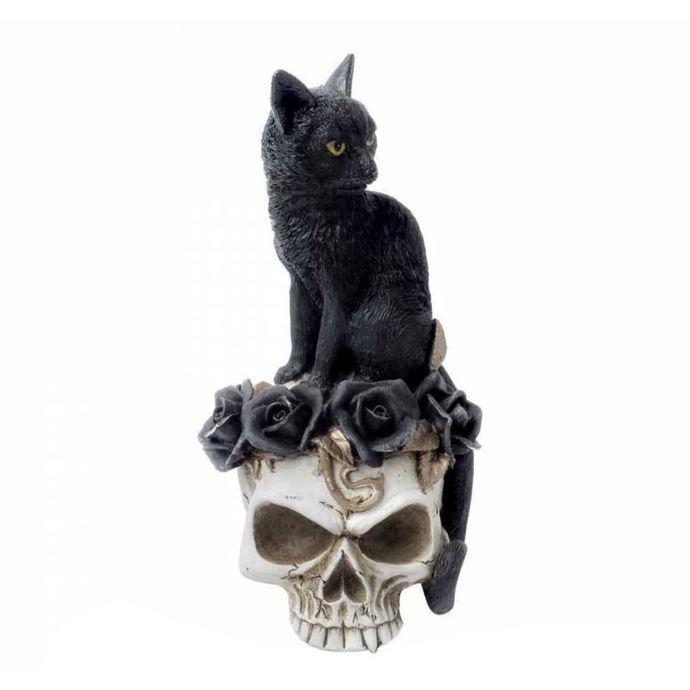 dekorace ALCHEMY GOTHIC - Black Cat & Skull