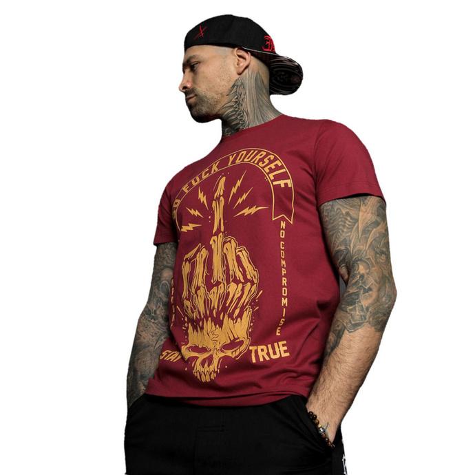tričko pánské HYRAW - Graphic - GO FUCK RED