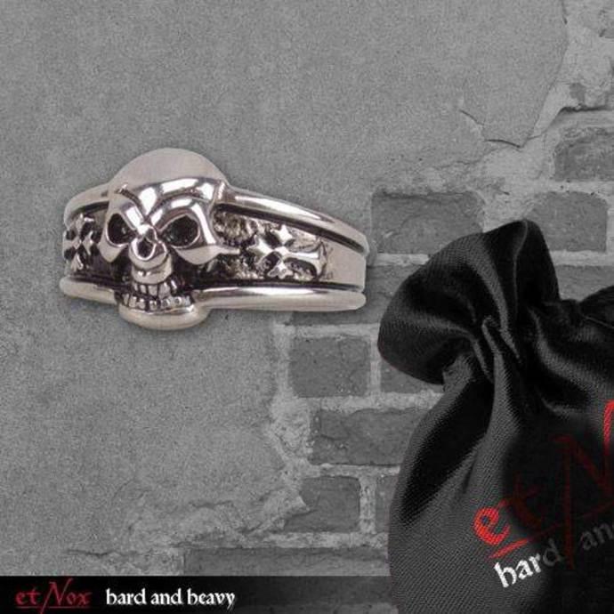 prsten ETNOX - Dark Skull