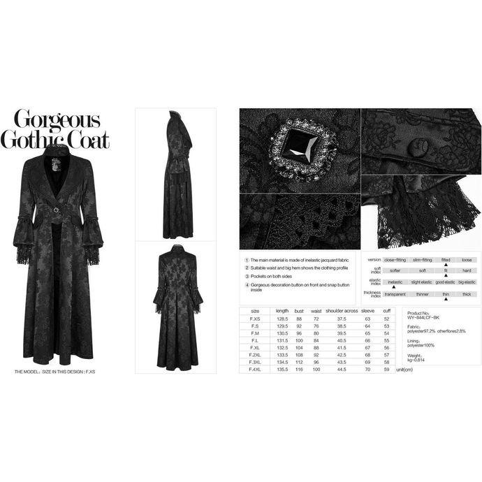 kabát dámský PUNK RAVE - Black Ruby Gothic ball
