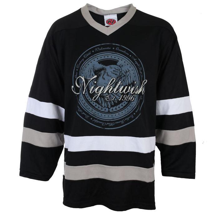 tričko pánské s dlouhým rukávem (dres) NIGHTWISH - OWL- LOGO 96 BLK/WHT - JSR