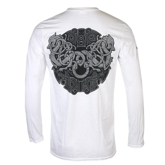tričko pánské s dlouhým rukávem AMON AMARTH - GREY SKULL - White - PLASTIC HEAD