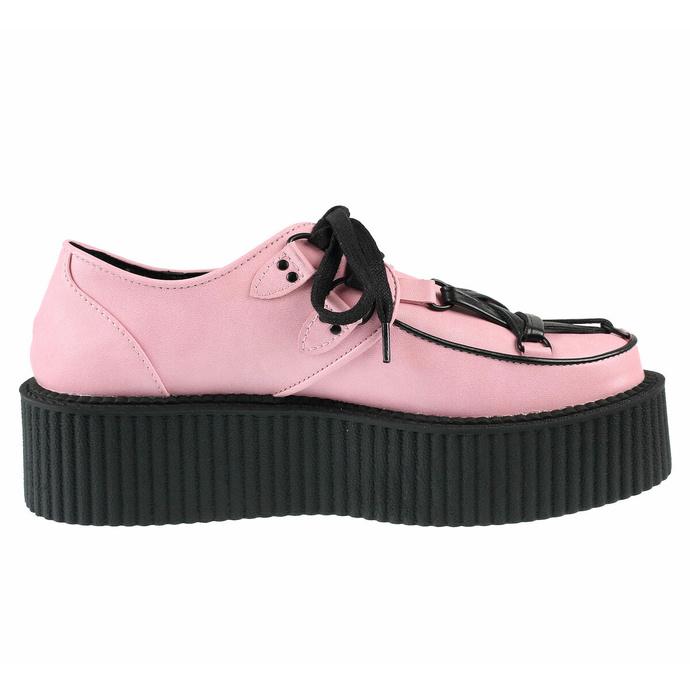 boty dámské KILLSTAR - Hexellent Creepers - Pastel Pink