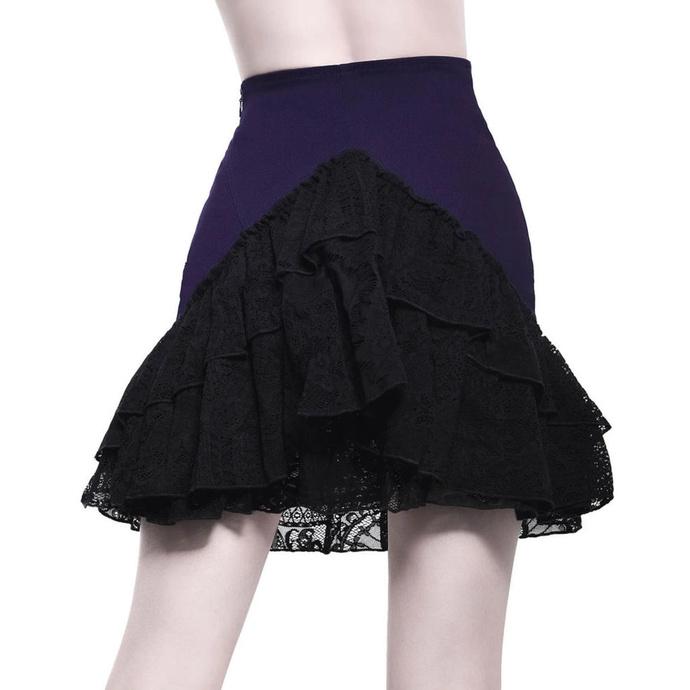 sukně dámská KILLSTAR - Adoria Bustle - PLUM