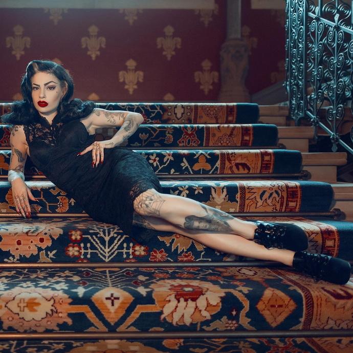 šaty dámské KILLSTAR - Laced-Up