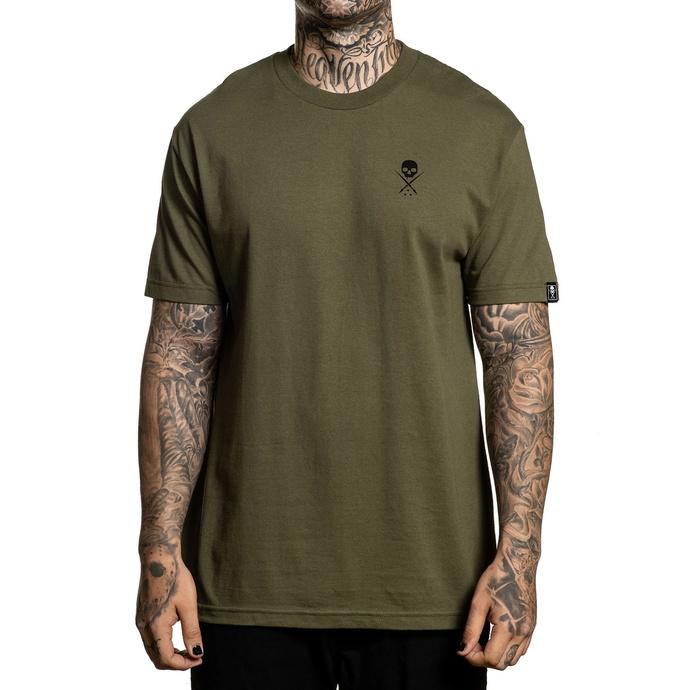 tričko pánské SULLEN - STANDARD ISSUE - MILITARY GREEN/BLK