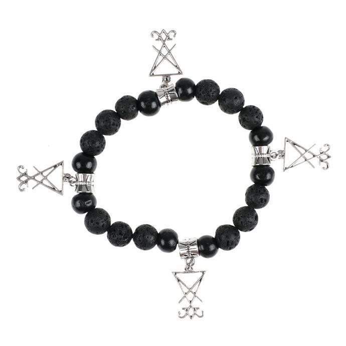 náramek Luciferothica - black & silver