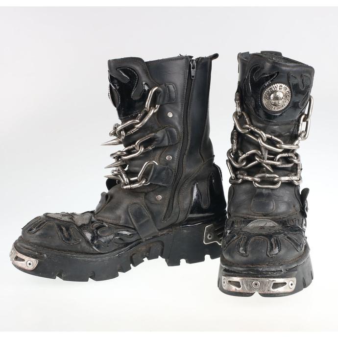 Boty New rock - Chain Boots (727-S1) Black - POŠKOZENÉ