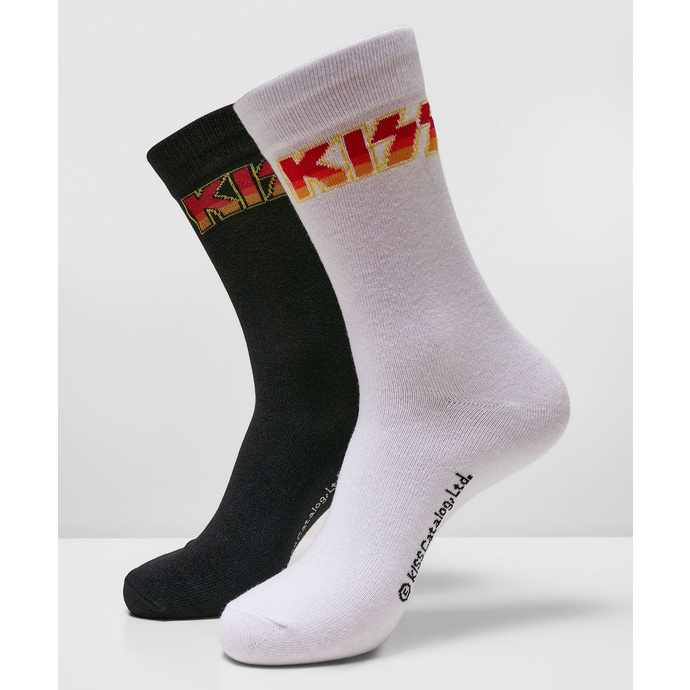 ponožky (set 2 páry) Kiss - 2-Pack - black/white