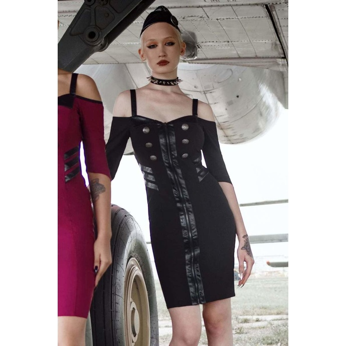 šaty dámské KILLSTAR - Miss Stardust - BLACK