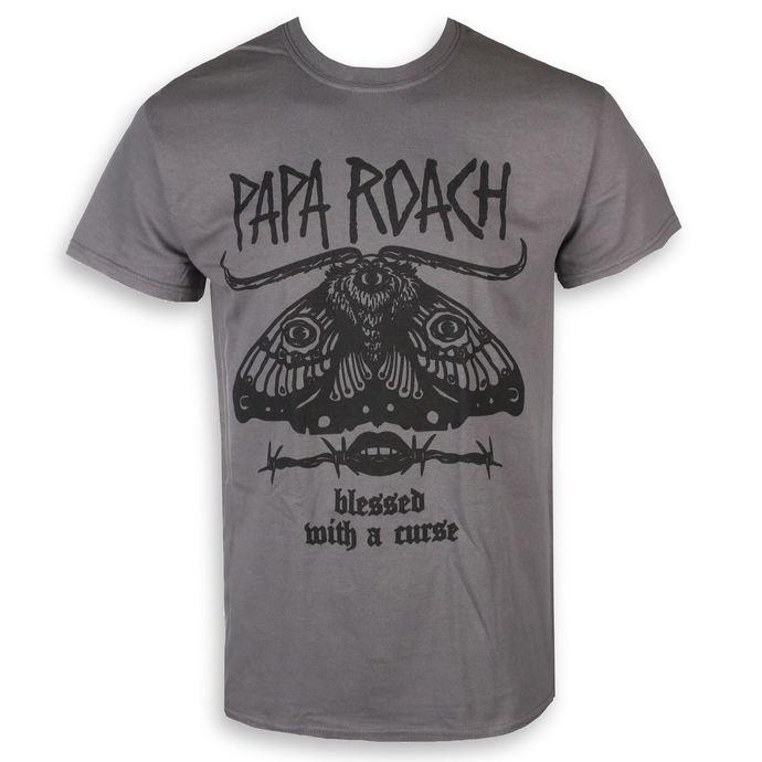tričko pánské Papa Roach - Blessed Curse - Charcoal - KINGS ROAD