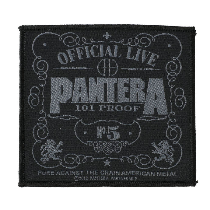 nášivka PANTERA - OFFICIAL LIVE 101% PROOF - RAZAMATAZ