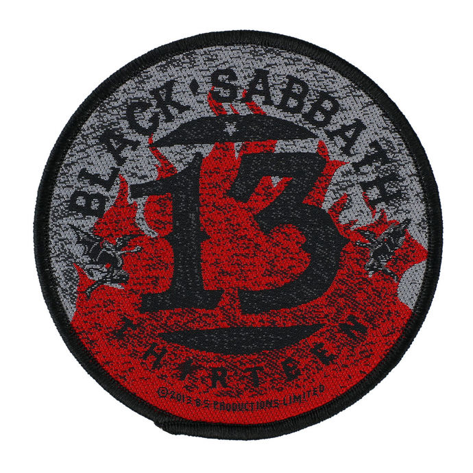 nášivka BLACK SABBATH - 13 FLAMES CIRCULAR - RAZAMATAZ