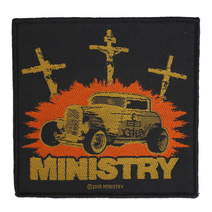 nášivka Ministry - Jesus Built My Hotrod - RAZAMATAZ