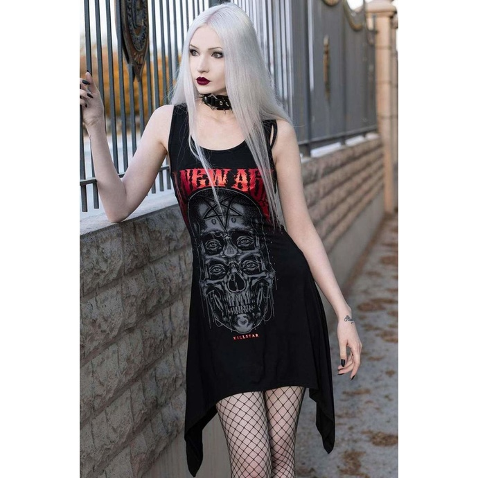 šaty dámské (tunika) KILLSTAR - New Age Lace - BLACK