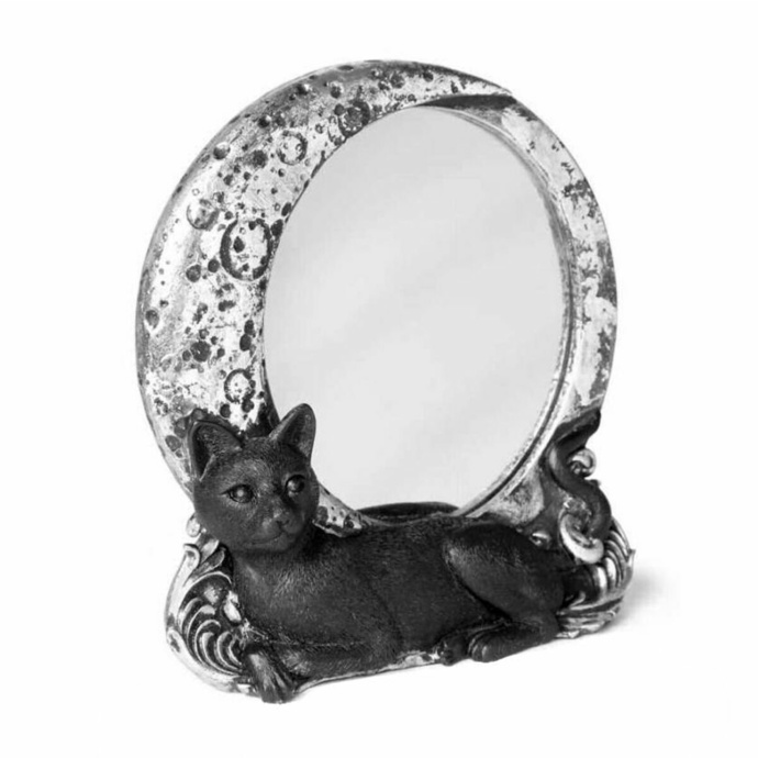 dekorace (zrcadlo) ALCHEMY GOTHIC - Cat/Moon