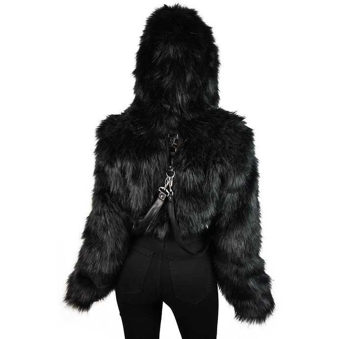 bunda dámská KILLSTAR - Night Creature Faux-Fur
