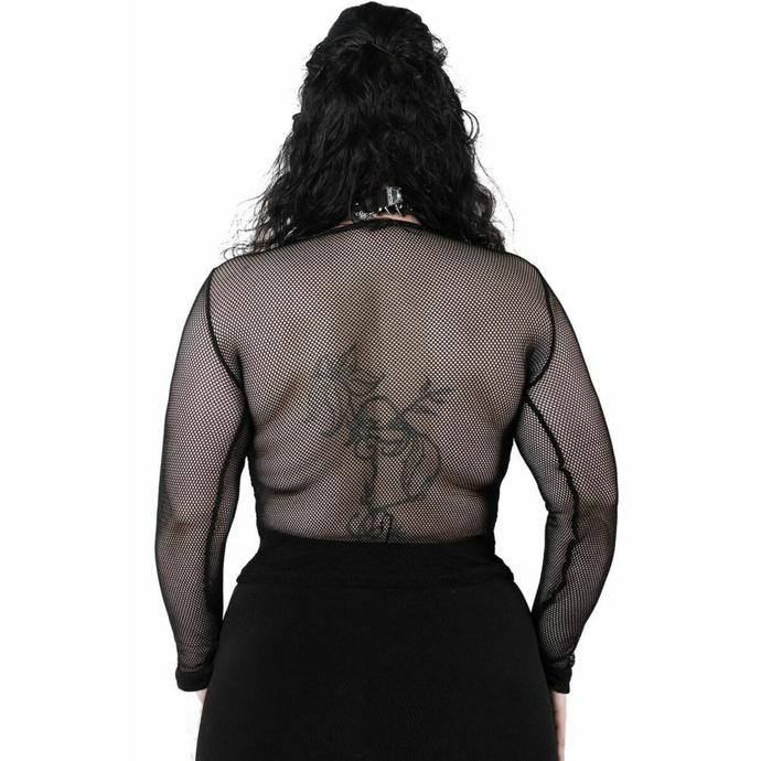 tričko dámské s dlouhým rukávem KILLSTAR - Overkill Fishnet - BLACK