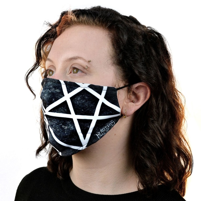 rouška (maska) HEARTLESS - PENTAGRAM - BLACK