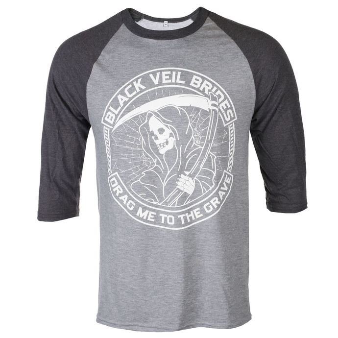 tričko pánské s 3/4 rukávem BLACK VEIL BRIDES - REAPER - PLASTIC HEAD