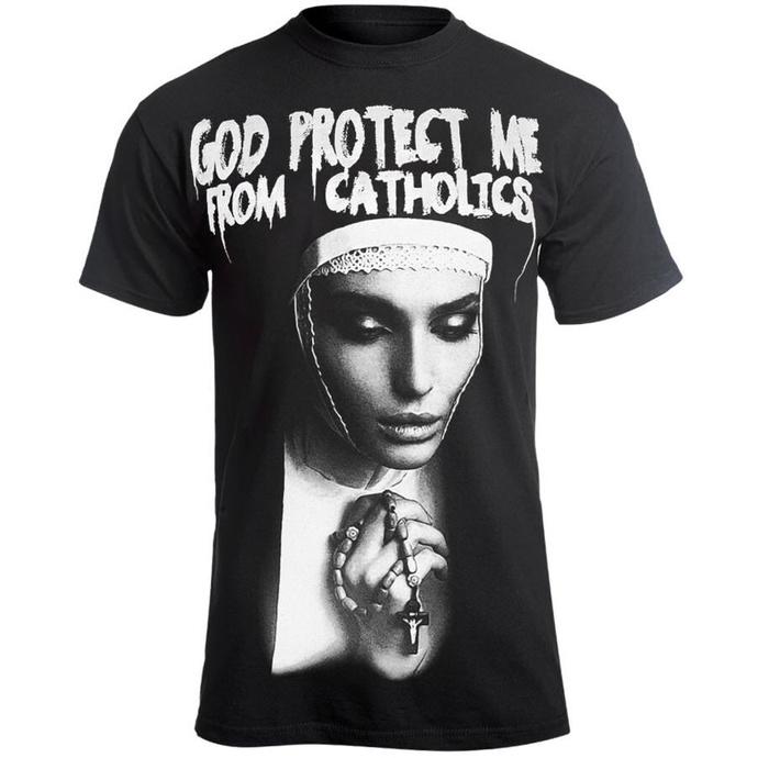 tričko pánské AMENOMEN - GOD PROTECT ME FROM CATHOLICS
