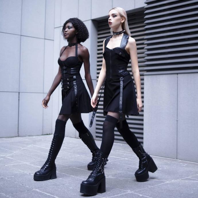 šaty dámské KILLSTAR - Psy-Ops - BLACK