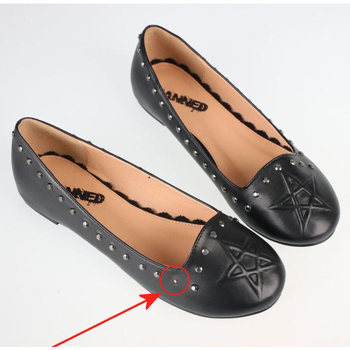boty dámské (baleríny) BANNED - BND229BLK - POŠKOZENÉ