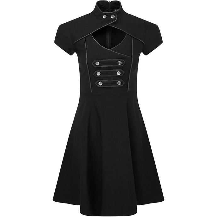 šaty dámské KILLSTAR - Regiment Skater - BLACK